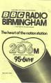 BBC Radio Birmingham leaflet
