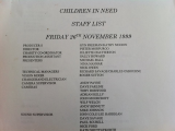 Children in Need Staff List