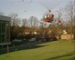 Helicopter landing at Pebble Mill