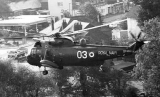 Sea King helicopter on Pebble Mill at One