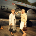 PABX Ladies inspecting the Harrier