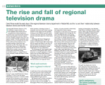 The Rise and Fall of Regional Drama - David Rose