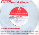 Sound Effects Disc - 'In A Provincial Town'