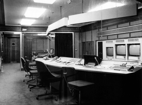 Studio A production gallery 1971, by Ivor Williams (including vision mixer)