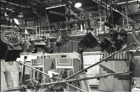 Studio A lighting gantry 1975, by Jim Gregory