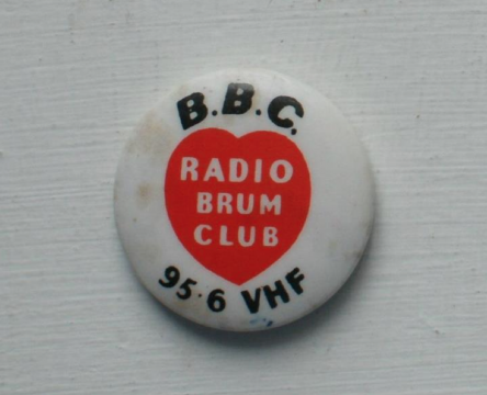 Radio Brum badge from Pete Simpkin