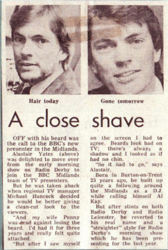 Close shave Alastair Yates