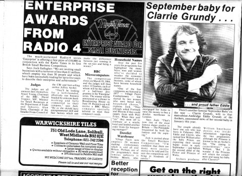 Pebble Mill News March 1984