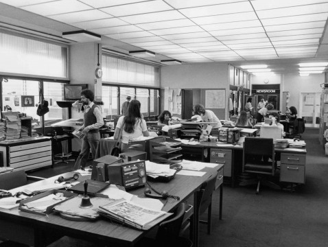 Photo of Pebble Mill Newsroom by Ivor Williams