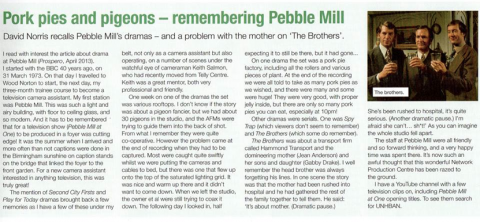 Remembering Pebble Mill PP