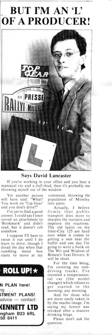 David Lancaster PM News 1984