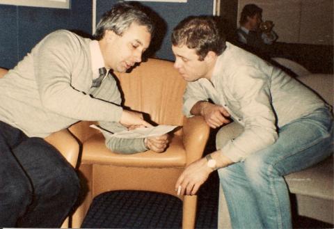 Mick Murphy and Bob Horsfield Oslo 1982JMc