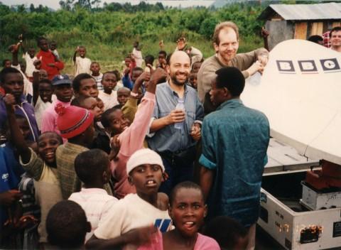 Rwanda OB crew with children
