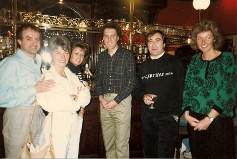 David Weir, Jane Mclean, Bev Wildman (now Thompson), comedian, Peter Hercombe, Caroline Marshall