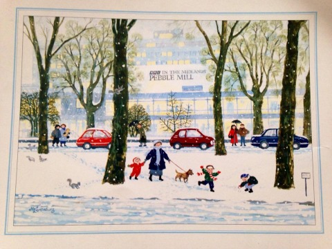 Pebble Mill Christmas Card  Ruth Kiosses