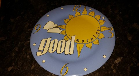 Good Morning viewer competition plate JP