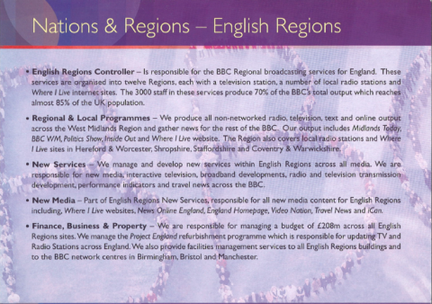 We are BBC Bham Nations and Regions