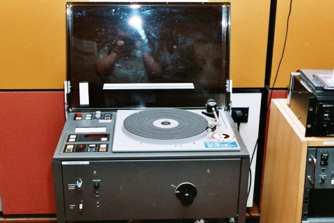Control room turntable