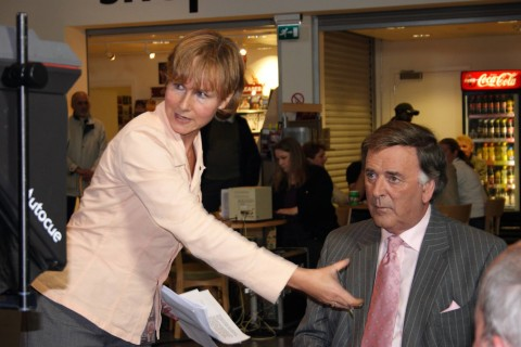 Vanessa Jackson (producer) with Terry Wogan (photo by Paul Vanezis, no reproduction without permission)