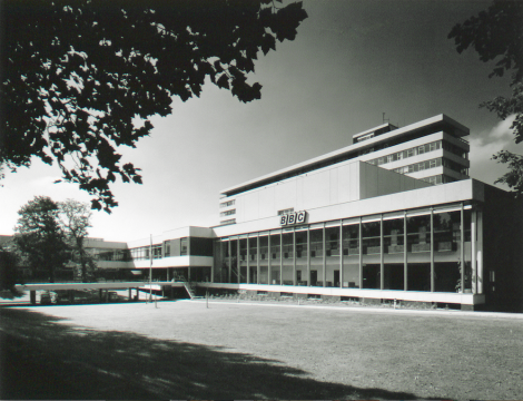 Pebble Mill building circa 1970, copyright resides with the original holder, no reproduction without permission