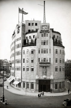 BBC Broadcasting House 1930s, copyright resides with the original holder, no reproduction without permission