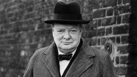 Winston Churchill. Copyright resides with the original holder, no reproduction without permission