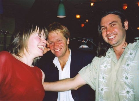 Andy and Dave at Doctors wrap party 2003 LW
