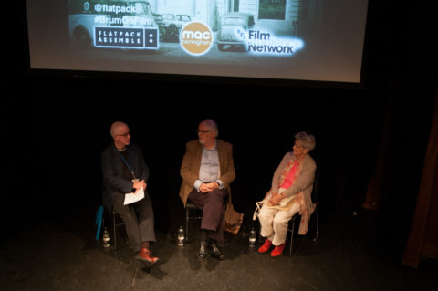 Lez Cooke, Peter Booth and Joyce Hawkins. Photo from Izzie Archer of Flatpack, no reproduction without permission
