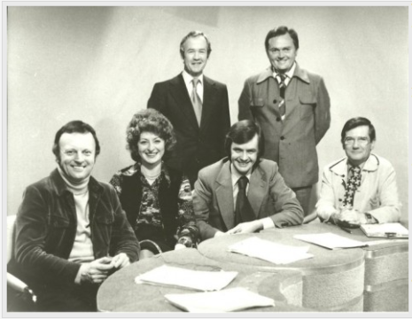 Midlands Today presenters, Tom Coyne, back row, right.
