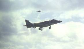 Harrier landing 1979